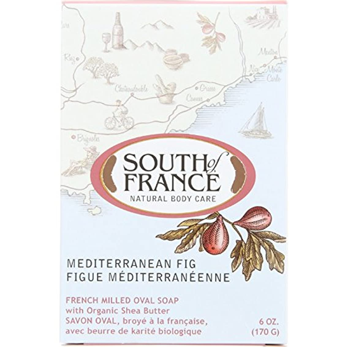 独立剣炭素South of France - フランスの製粉された野菜棒石鹸の内陸のイチジク - 6ポンド