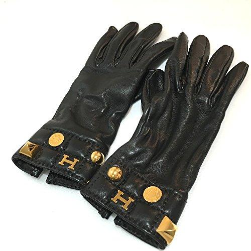 (エルメス) HERMES セリエ・メドール 手袋 H金具 グローブ レザー レディース 中古