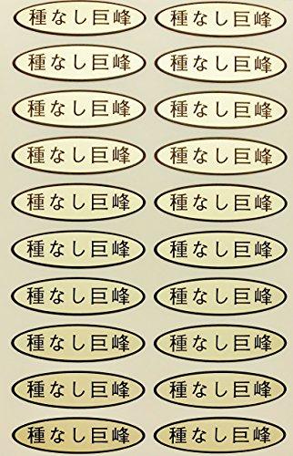 種なしぶどう品種金シール49×14mm楕円形500枚(20枚×25シート) (種なし巨峰)