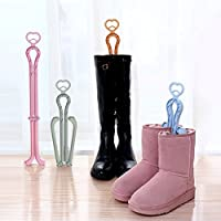 warmtree Folding Boot Shaper Standsロングショートブーツ靴クリップサポートスタンドホルダーラックオーガナイザー、2パック