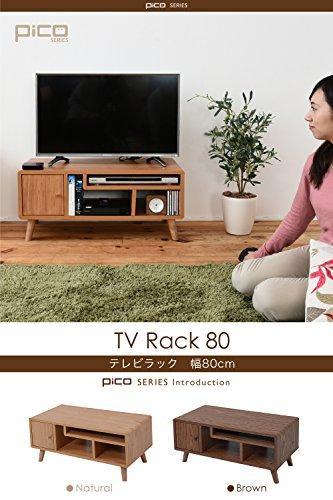 JKプランPicoシリーズテレビ台テレビボード一人暮らしTV台TVボードコンパクトおしゃれ北欧幅80ナチュラルFAP-0004-NA