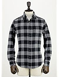 SWEEP!! スウィープ!! メンズ バッファローチェック コットンフランネル ワークシャツ Buffalo(グレー×ブラック)