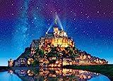 500ピース ジグソーパズル めざせ! パズルの達人 世界の絶景 星空のモン・サン・ミシェル-フランス(38x53cm)