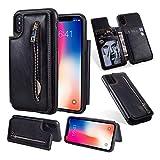 b527f0b347 位, WE LOVE CASE iPhone X ケース 手帳型 カード収納 背面 iphonexケース 財布型 分離型 本革レザー カードスロット  小銭&イヤホン 収納可能 大容量 携帯バッグ ...