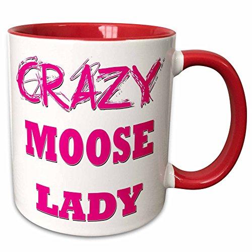 3droseブロンドDesigns Crazy親指ポインティングBack Lady???CrazyムースLady???マグカップ 15-oz Two-Tone Red Mug mug_175194_10