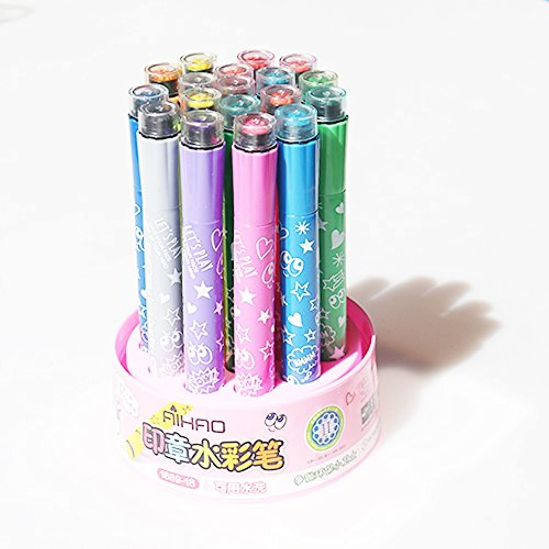 Ruian 18色水彩ペンセットWashableクレヨン幼稚園子供カラーペン非毒性Pupilブラシ