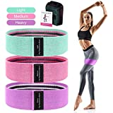 DEAMOS 3PCS Resistance Bands Set 3 Levels Exercise Loop Bands for Booty,Resistance Workout Bands for Legs and Butt,Home Fitness,Strength Training for Men & Women