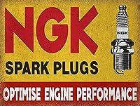 Ngk Spark Plugs 金属スズヴィンテージ安全標識警告サインディスプレイボードスズサインポスター看板建設現場通りの学校のバーに適した