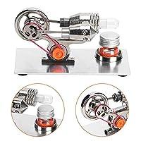 熱気スターリングエンジン スターリングエンジンモーター ミニ ホットエア スターリングエンジンモーター 科学教育玩具 知育玩具 科学 実験器材 物理実験 自由研究 操作簡単 素敵なプレゼント