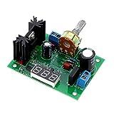 KKmoon LM317 AC/DC 電源モジュール 電源基板 降圧モジュール 可変電圧レギュレータ LEDディスプレイ付き