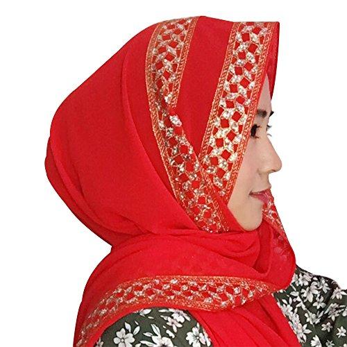 KINDOYO Muslim woman elegant fashion human jab scarf shawl Islamic head cover 180 * 70 CM, 12 colors