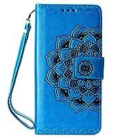 Huawei P30 Pro 手帳型ケース CUSKING PUレザー手帳 カバー 軽量 便利 カード収納付き スタンド機能付き マグネット保護カバー -ブルー
