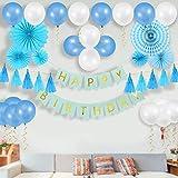 誕生日 飾り付け セット バルーン パーティー Birthday 飾り付けセット 40点セット 両面テープ エアーポンプ付き