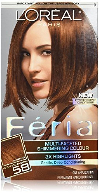 バウンスさびた傾くFeria Bronze Shimmer by L'Oreal Paris Hair Color [並行輸入品]