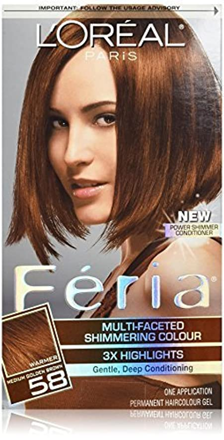 賠償忠誠むしろFeria Bronze Shimmer by L'Oreal Paris Hair Color [並行輸入品]