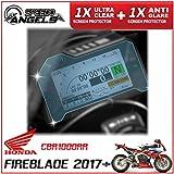 Honda Fireblade CBR1000RR (2017>) ダッシュボード / 計器クラスタ スクリーンプロテクター - 1 x アンチグレア & 1 x スーパークリア