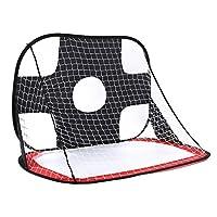 LULAA 子供サッカーゴール 一台二役 ワンタッチ 折りたたみ 持ち歩き可能 ポップアップゴール 室内室外 大人も子供も楽しめる 収納バッグ付き 100 * 75 * 75CM