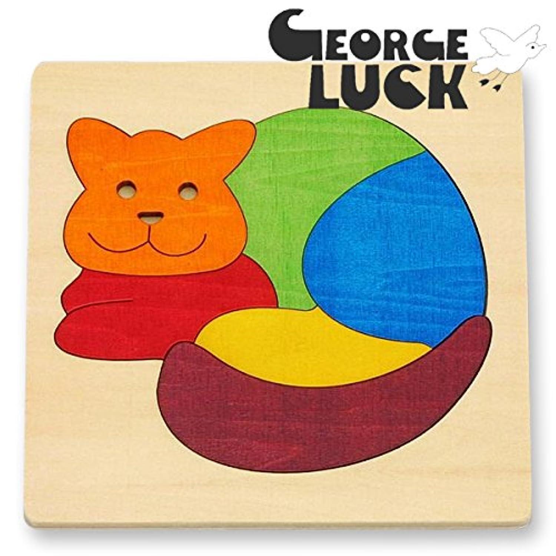 GEORGE LUCK(イギリス) 木製カラフルパズル ねこ【GL6500】