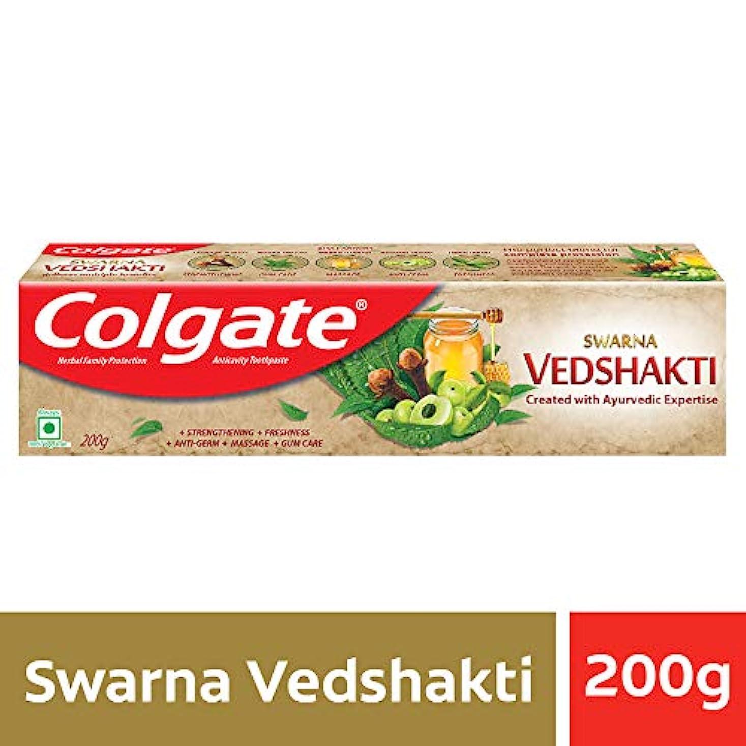 投資ファイナンスシャッターColgate Swarna Vedshakti Toothpaste - 200g