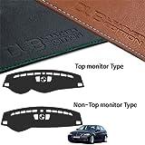カスタムMadeレザーエディションプレミアムダッシュボードカバーfor BMW e903series 20062011 ブラウン DUB_Leather_Dash_Board_Cover_E90_06