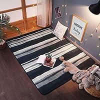 子供の寝室に適しています ラグ カーペット, シック 漫画 寝室 可愛い 居間 北欧 保護床 装飾模様 防ダニ 滑り止め付き-45x75cm(18x30inch)-L