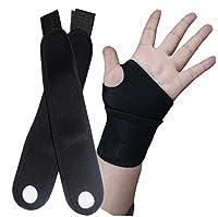 【ノーブランド品】 リストガード(手首サポート) 両手首用 メッシュ加工 フリーサイズ
