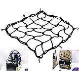Motorcycle ATV Bike Cargo Mesh Net for Helmet Luggage Carrier Bungee 6 Hooks
