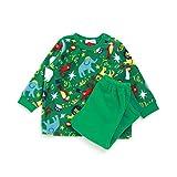ampersand(アンパサンド) フリース動物サーカスパジャマ グリーン 90cm 子供服
