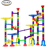 jenilily Marble Run Set 122pcs for Kids Learningおもちゃ、教育Construction Building Blocks