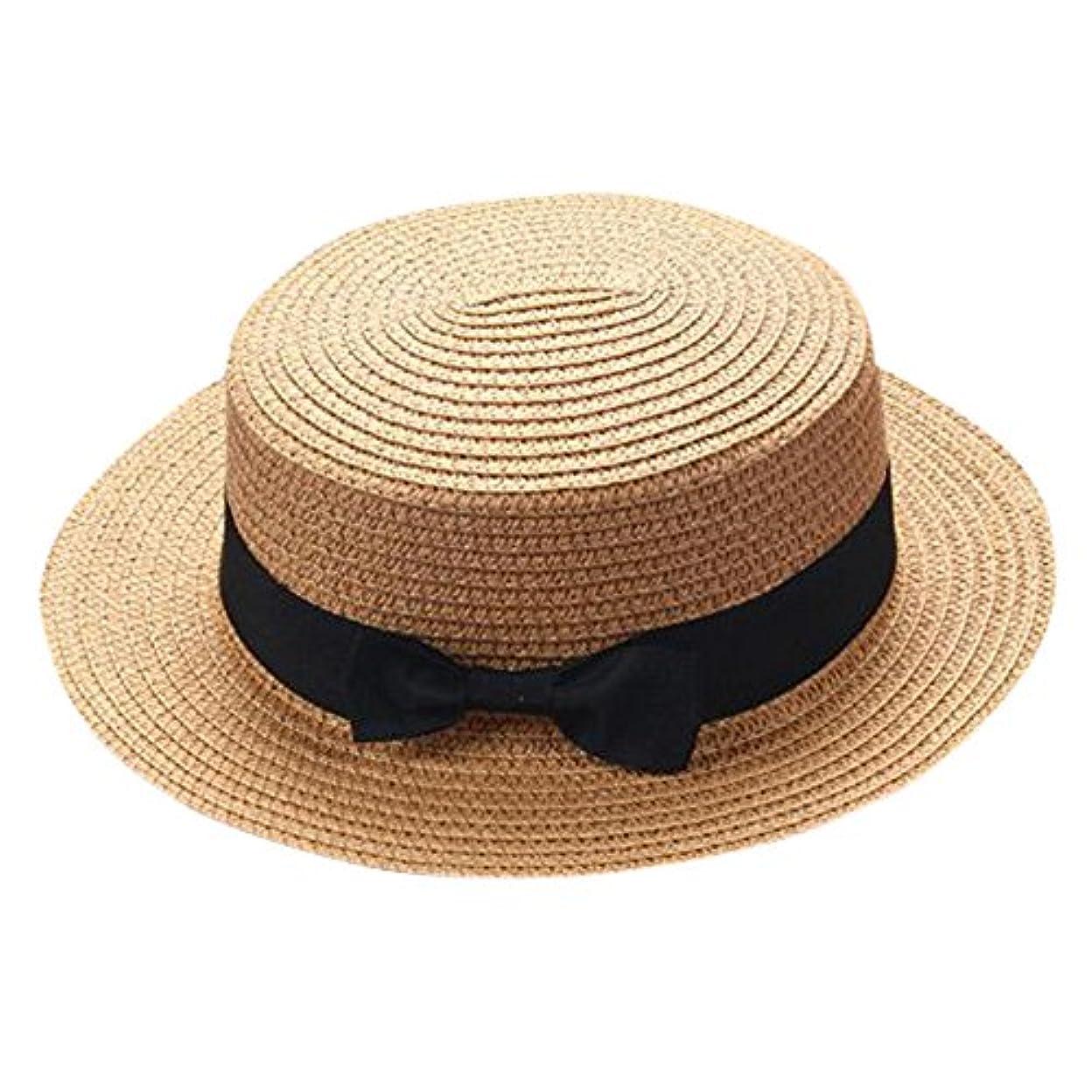 成熟した支店商人キャップ キッズ 日よけ 帽子 小顔効果抜群 旅行用 日よけ 夏 ビーチ 海辺 かわいい リゾート 紫外線対策 男女兼用 日焼け防止 熱中症予防 取り外すあご紐 つば広 おしゃれ 可愛い 夏 ROSE ROMAN