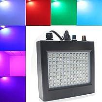 KUWAN® RGB LEDフラッシュライト ストロボライト  DJ  108連 LED SMD 5050  25W 七色  ディスコ  パーティー