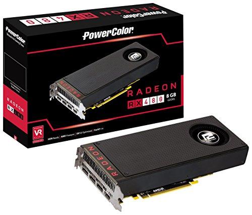 PowerColor ビデオカード AMD RADEON RX480搭載 AXRX 480 8GBD5-M3DH