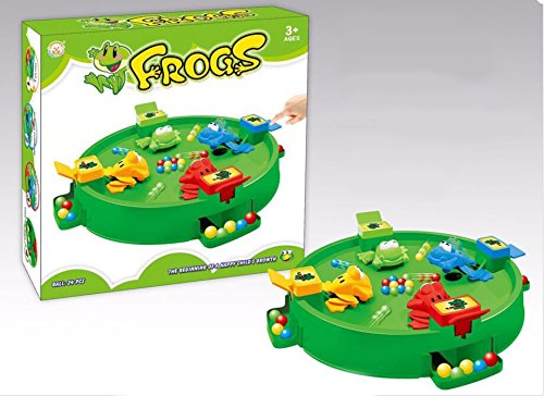 Pujun Lovely Frogテーブルゲーム教育玩具子供キッズ& # xff0C ; Feeding FrogsゲームFroggies Eat UpすべてTheボールFun Kids 3dボードゲーム& # xff0C ;親子相互作用ゲーム