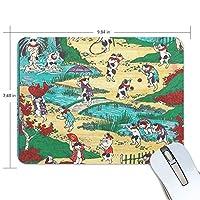 マウスパッド 猫の湯 浮世絵 ゲーミングマウスパッド 滑り止め 19 X 25 厚い 耐久性に優れ おしゃれ