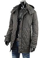 ハーフコート メンズ キルティング 中綿 軽量 ライト ダウン コート 冬 おしゃれ V261217-01