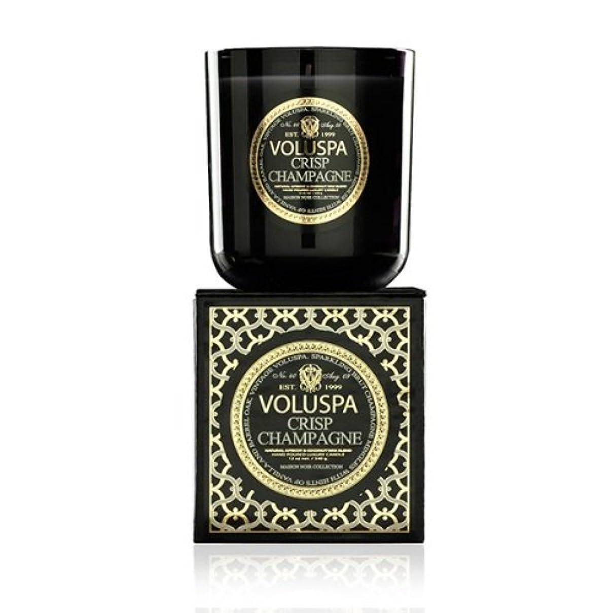 Voluspa ボルスパ メゾンノワール ボックス入りグラスキャンドル クリスプジャンパン MAISON NOIR Box Glass Candle CRISP CHAMPAGNE