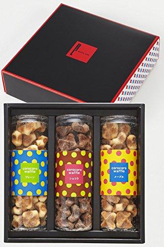 エール・エル ギフト コロコロワッフル 3本セット 1箱 ( 3種 詰め合わせ ) クッキー ( プレーン メープル ショコラ )
