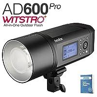 Godox AD600Pro 600Ws TTL HSS Outdoor Flash With Li-on Battery Built-in Godox 2.4G Wireless X System Two Power Supply Methods For Canon, Nikon, Sony, FUJIFILM, Olympus, Panasonic (AD600Pro)