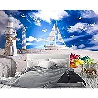 Wuyyii カスタム壁紙灯台地中海風壁画テレビ背景壁家の装飾背景壁画3 D壁紙
