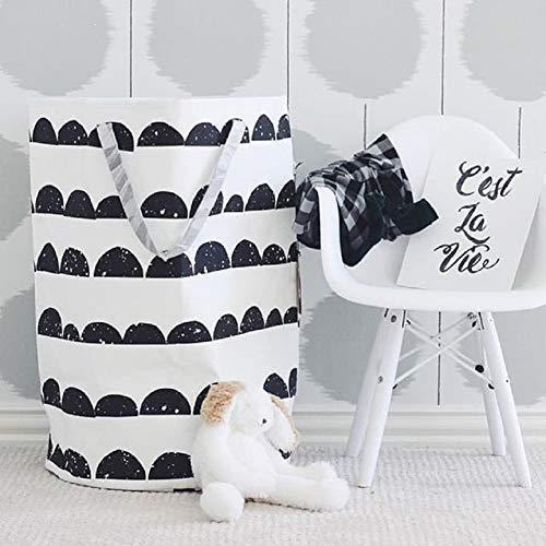 北欧風 おもちゃ収納袋 洗濯物用かご 収納用品 おもちゃのオ...