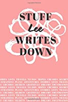 Stuff Lee Writes Down: Personalized Journal / Notebook (6 x 9 inch) with 110 wide ruled pages inside [Soft Coral]
