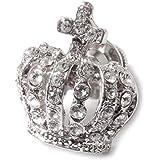 AMANOGAWA タックピン ラペルピン クラウン 王冠 スワロフスキー ブローチ ピンブローチ ピンバッジ シルバー