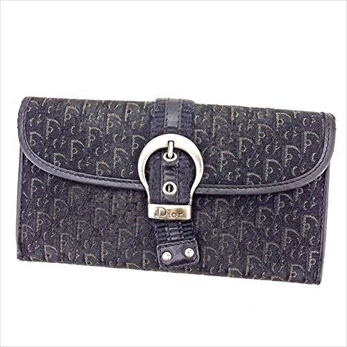 ディオール Dior 長財布 財布 Wホック財布 レディース メンズ 可 ベルトデザイン付き トロッター 中古 T2627