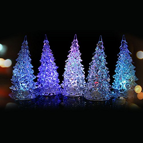 Bulary クリスマスツリー 5本セット 13cm LED...