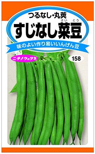 日本農産種苗 すじなし菜豆(つるなし・丸莢)のタネ すじなし菜豆