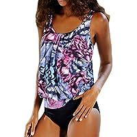 Womens Tankinis OVERMAL Swimwear Two Piece Bikini Set With Boy Shorts Ladies Swimsuits Bathing Suit Monokini