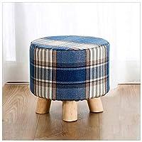 オットマンソリッドウッドの脚スツールの椅子折りたたみポータブルスクエア、スペース屋内の残りの節約 (色 : R, サイズ さいず : 28x28x25cm(11x11x10inch))