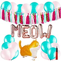 Cat Party Supplies - Kitty Themed Birthday Decorations - Kitten Decor 【You&Me】 [並行輸入品]