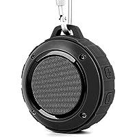 Bluetooth スピーカー Lenrue F4 ミニワイヤレススピーカー IP45 防水&防塵認証 マイク内蔵 高音質 アウトドアスピーカー TF カード対応 / iPhone / iPad /Android /タブレットなどに対応 (ブラック)