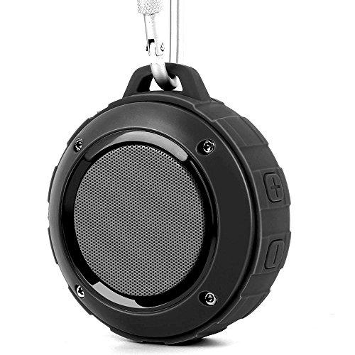 Bluetooth スピーカー Lenrue F4 ミニワイヤレススピーカー IP45 防水防塵認証 マイク内蔵 高音質 アウトドアスピーカー TF カード対応/iPhone / iPad/Android /タブレットなどに対応 (ブラック)